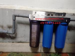 Bộ ba cốc lọc nước sinh hoạt 10 inch