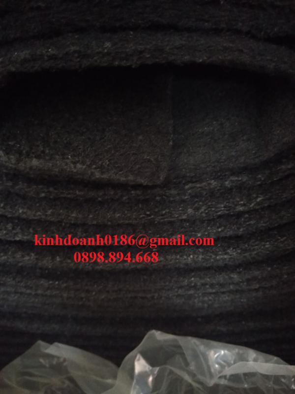 Bông lọc tổng hợp phủ than đen