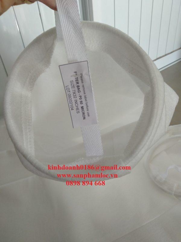Túi lọc polypropylen miệng inox
