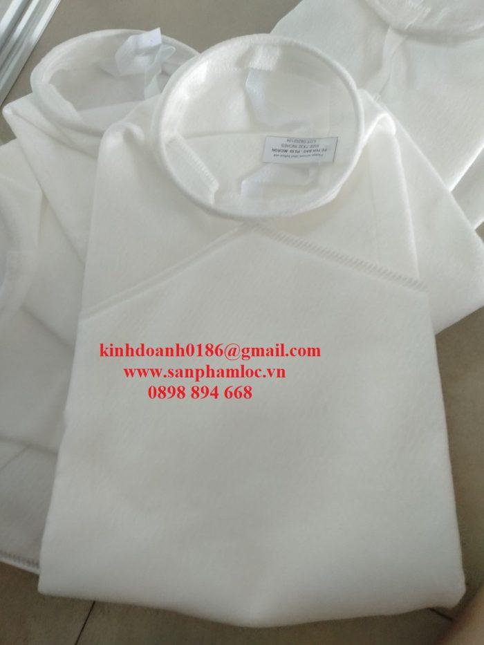 Túi lọc PP size 2 0.5 micron miệng nhựa