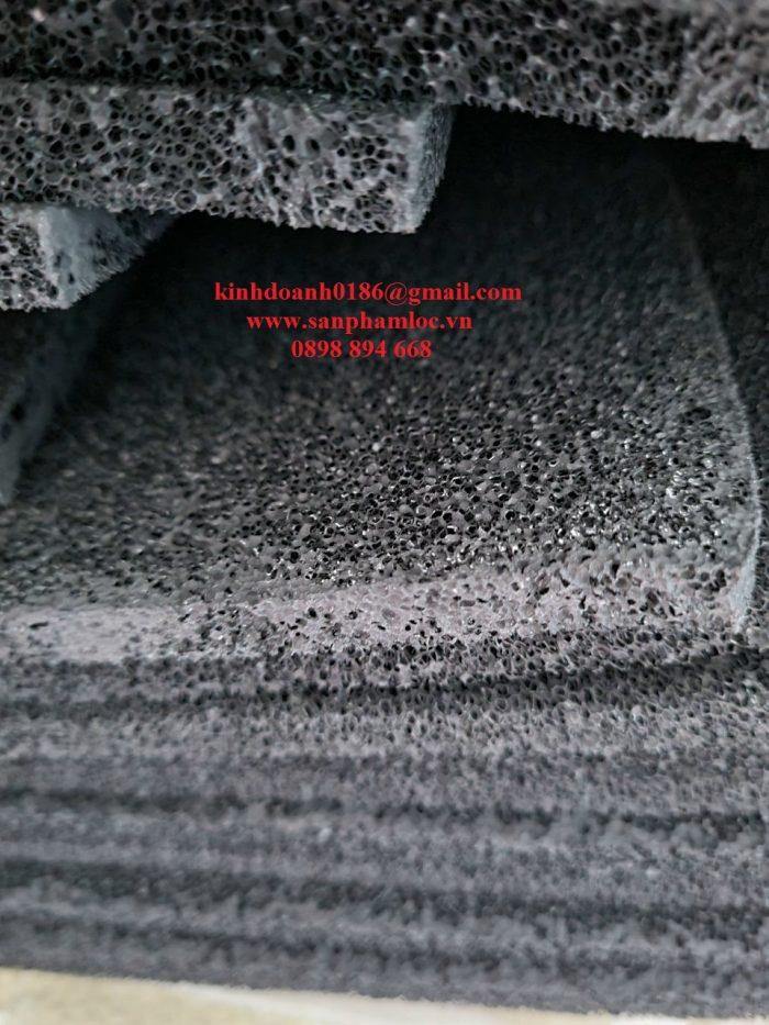 Tấm bọt xốp phủ than đen 10mm