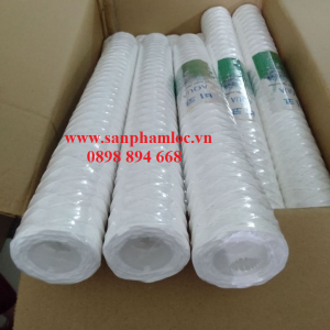 Lõi lọc sợi cotton quấn core nhựa PP 20 inch 5 micron